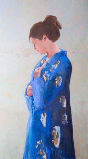Blauwe kimono I