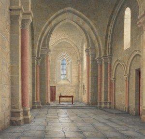 Interieur van de kerk te Paussac