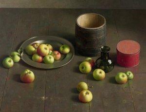Vloercompositie met appels