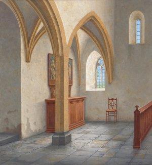 Hoekje in de kerk van Detwang
