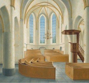 Interieur dorpskerk Hengelo
