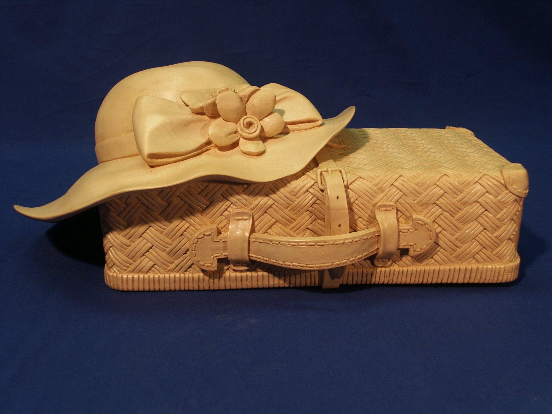 Koffertje met hoed