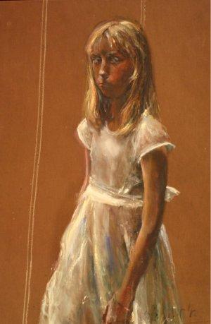 Meisje in witte jurk