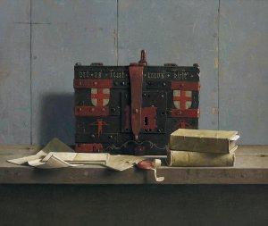 Stilleven met 16de-eeuwse St. Joriskist